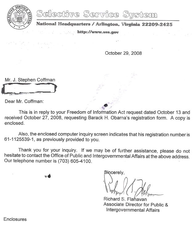 selective service system letter obama s fishy selective service registration my own 24789