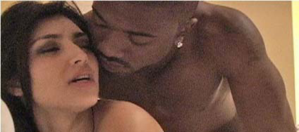 ... and starred in a sex tape with rapper Ray J, in which they had anal sex.
