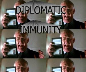 deplomatic imunity Definition of diplomatic immunity in the audioenglishorg dictionary meaning of diplomatic immunity what does diplomatic immunity mean proper usage and pronunciation (in phonetic transcription) of the word diplomatic immunity.