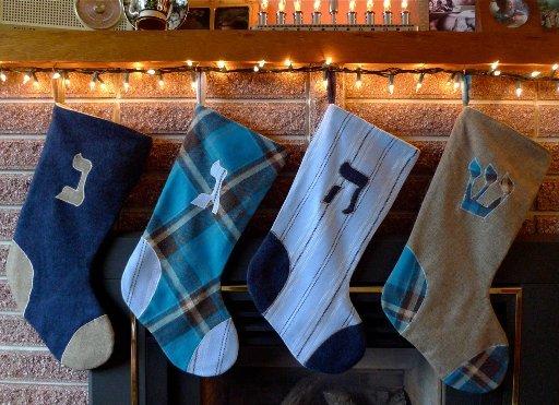 Hanukkah Christmas Stocking.How Not To Celebrate Chanukah